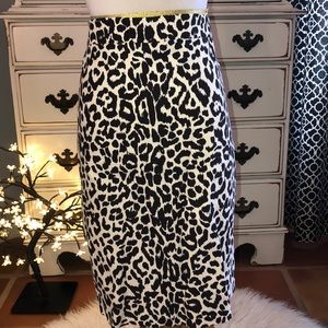 JCREW pencil skirt in animal print